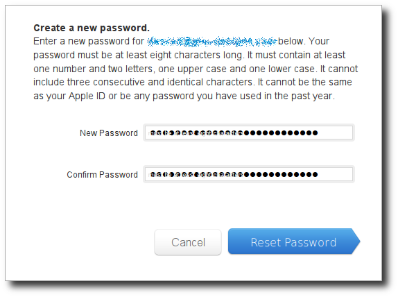 Apple ID paste second password dialog