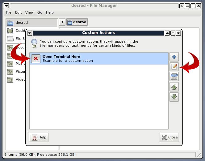 Edit open terminal here in Xfce4