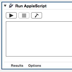 Blank AppleScript script