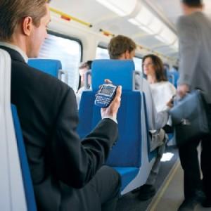 Blackberry on the train