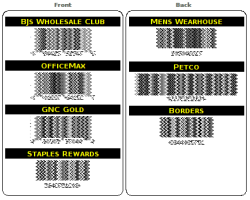 Just One Club Card (example)