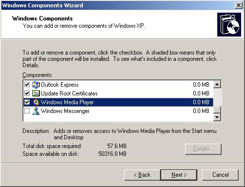 Remove Windows Media Player