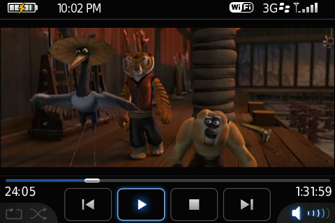 Kung-Fu Panda on the BlackBerry Bold