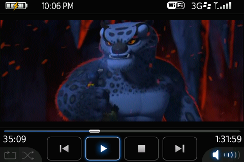 Kung-fu Panda running on my BlackBerry Bold