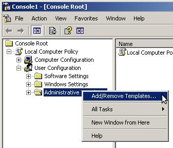Add/Remove Administrative Templates