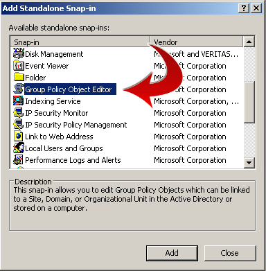 Group Policy Object Editor