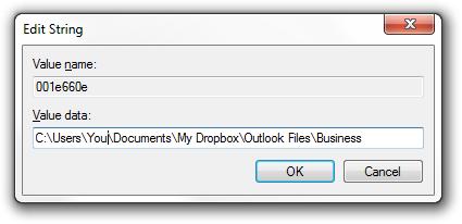 Outlook address book in Dropbox