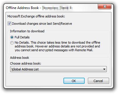 Download full details of Outlook address book