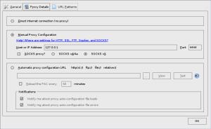 FoxyProxy proxy details