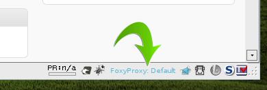 FoxyProxy in the status bar