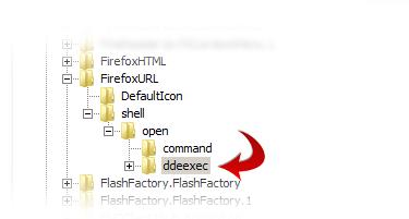 FirefoxURL shell open ddeexec