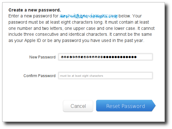 Apple ID paste first password dialog