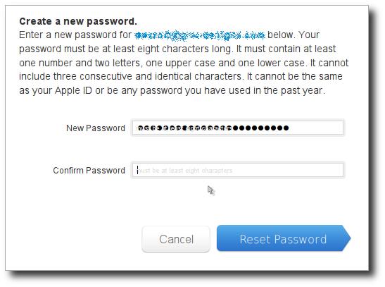 Apple ID paste second password