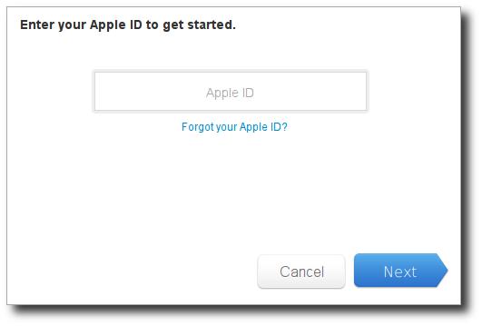 Apple ID reset password