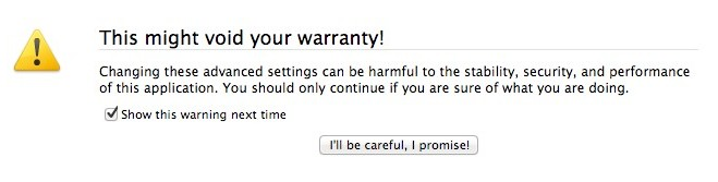 Firefox void warranty