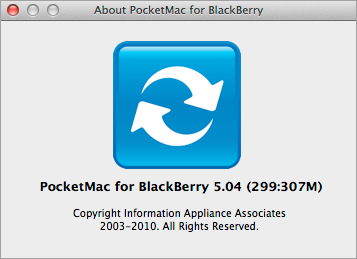 PocketMac About screen