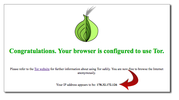 Tor Browser Check Results