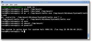 KNOPPIX restore sethc