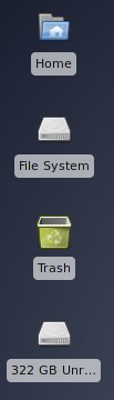 Xfce4 transparent desktop icons