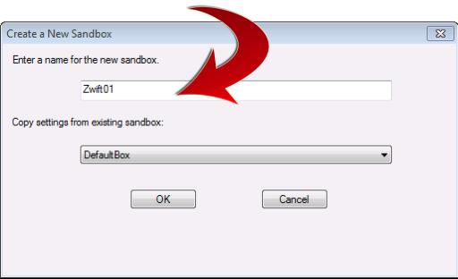 Naming your Sandboxie sandbox