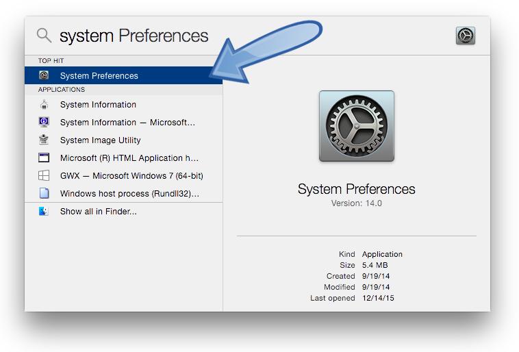 OS X System Preferenes