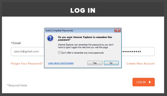 Zwift Internet Explorer Remember Passwords Dialog