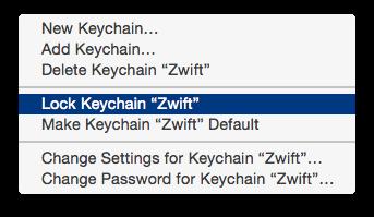 Locking the Zwift keychain