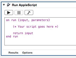 AppleScript starting point